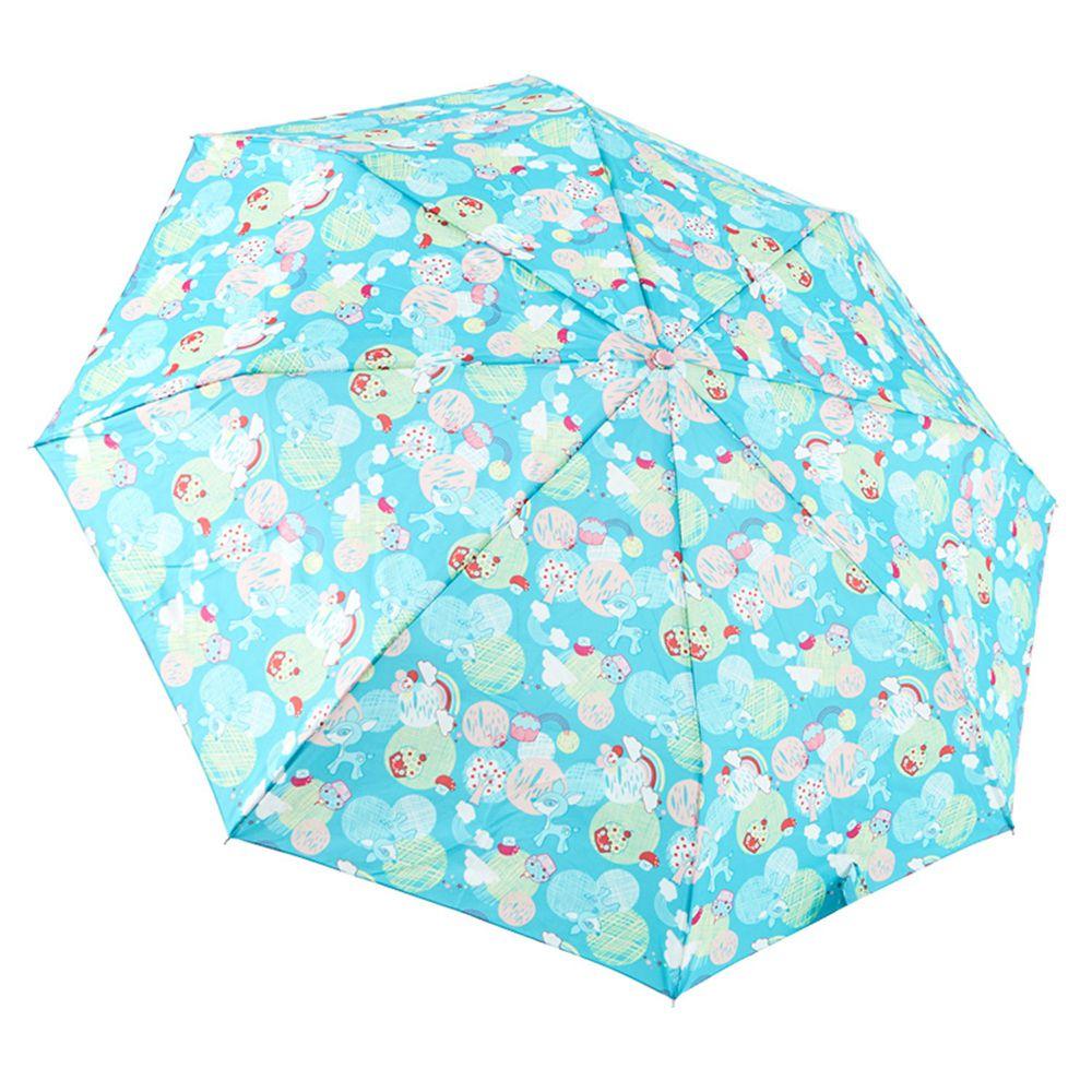 Rainstory - 抗UV雙人自動傘-蘑菇小鹿-藍綠