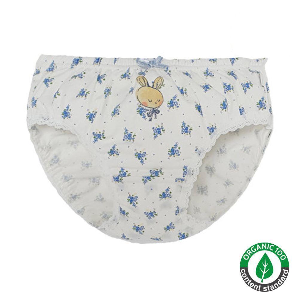 韓國 Ppippilong - 有機棉高彈三角褲(女寶)-香草兔兔