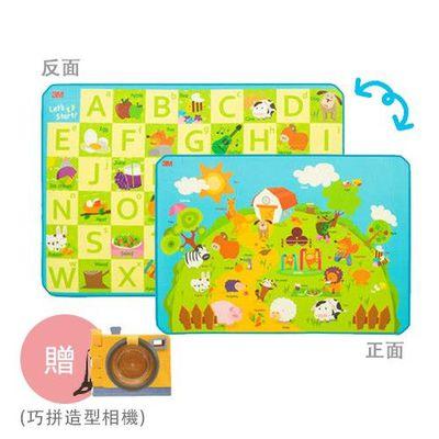 兒童安全遊戲地墊-雙面(動物+ABC)-送巧拼造型相機
