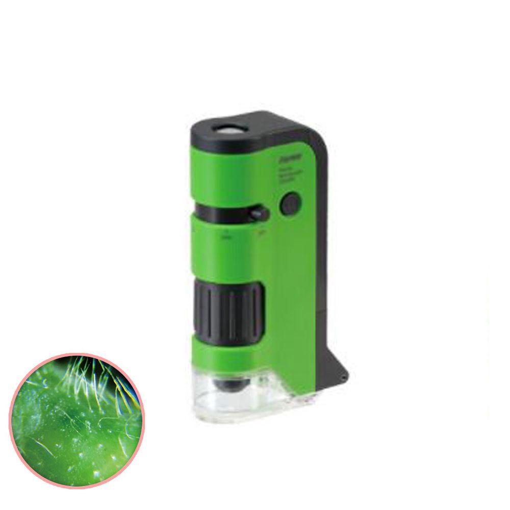 日本 Raymay - 攜帶式隨身顯微鏡-100-250倍率-綠