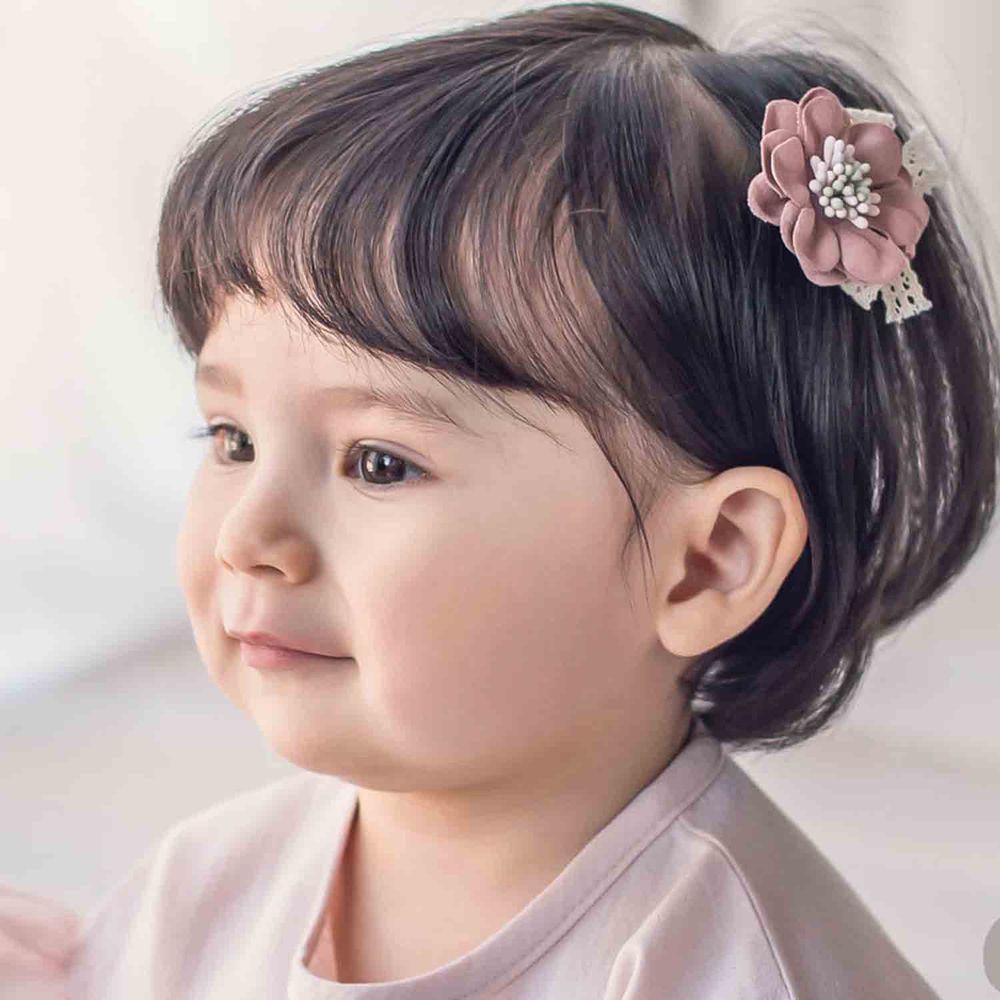 韓國 Happy Prince - 精緻小花朵髮夾/髮飾-粉紅