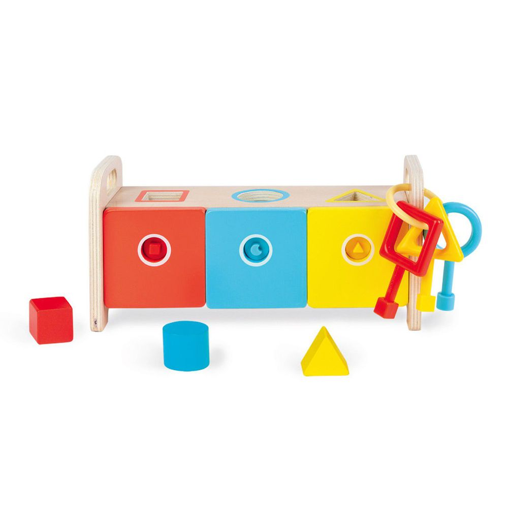 Janod - 小小STEAM系列-形狀鑰匙盒