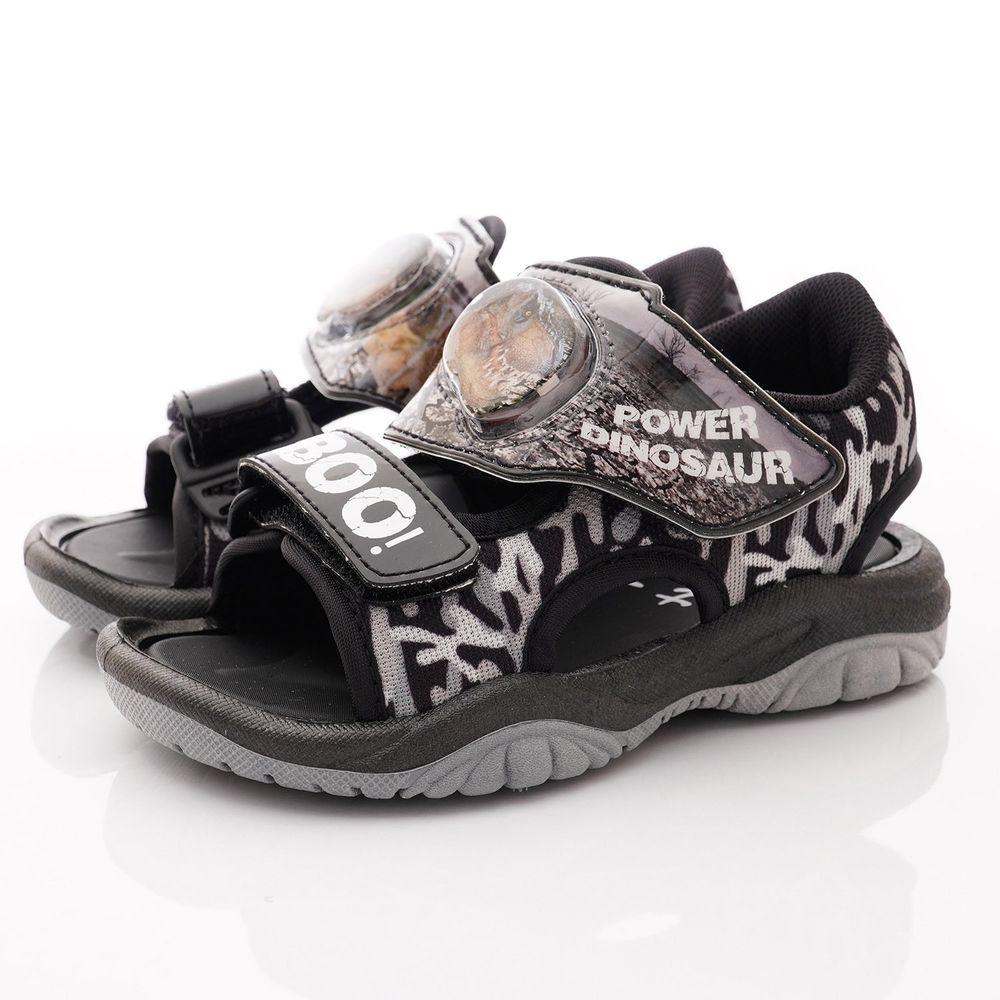 侏羅紀世界 - 恐龍電燈涼鞋款(中小童段)-黑