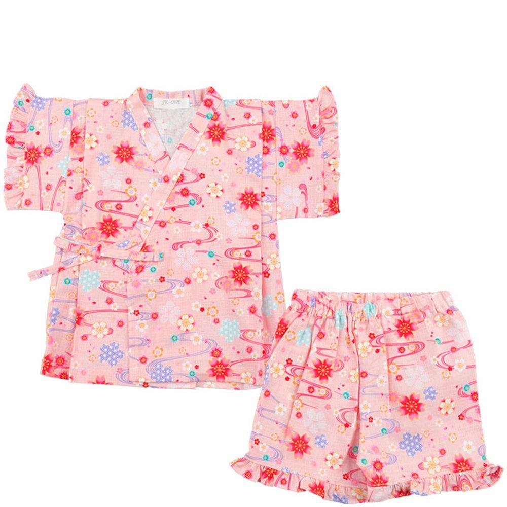 akachan honpo - 兩件式甚平-櫻花-粉紅色