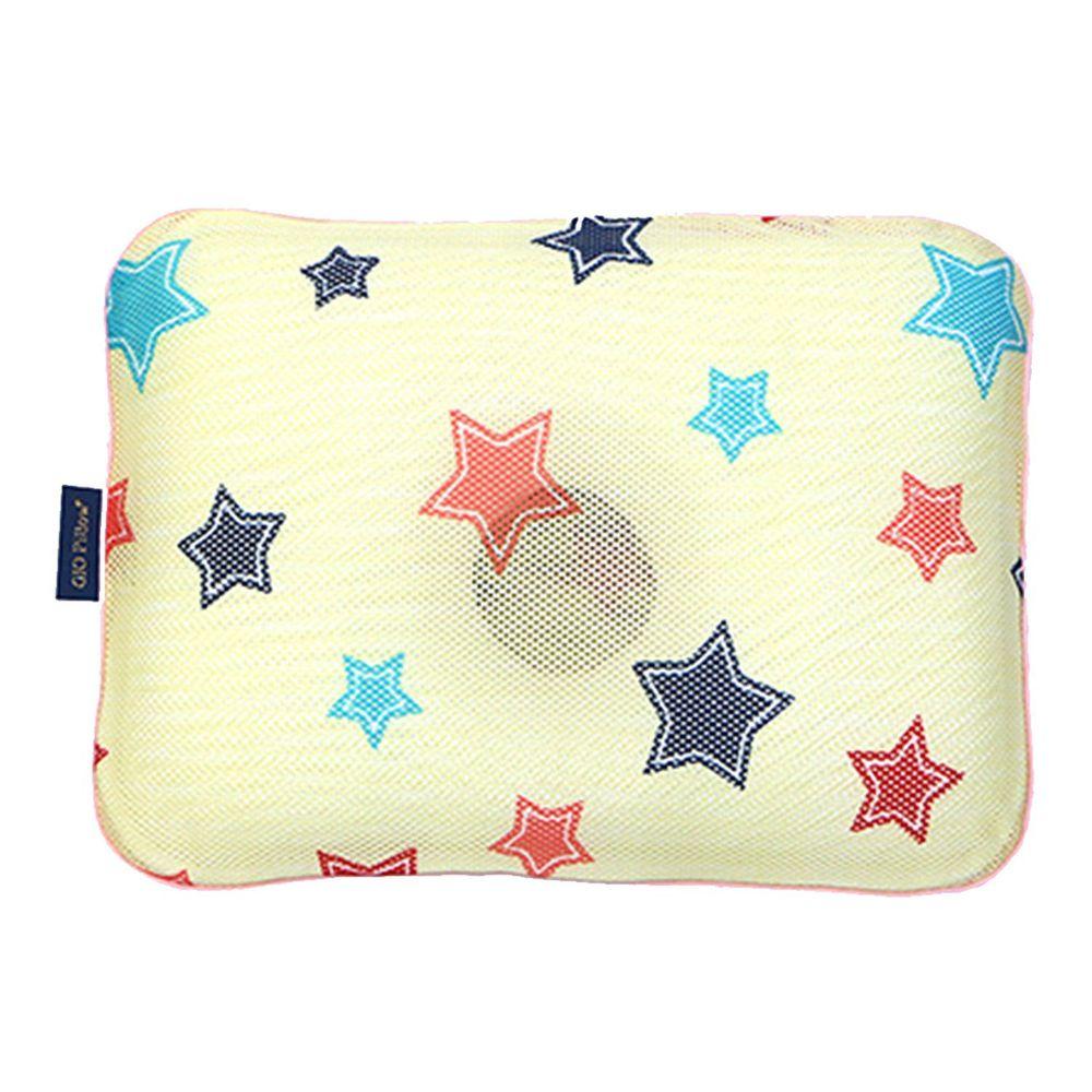 韓國 GIO Pillow - 超透氣護頭型嬰兒枕/防扁頭枕/防蟎枕-單枕套組-香草星星 - S/M