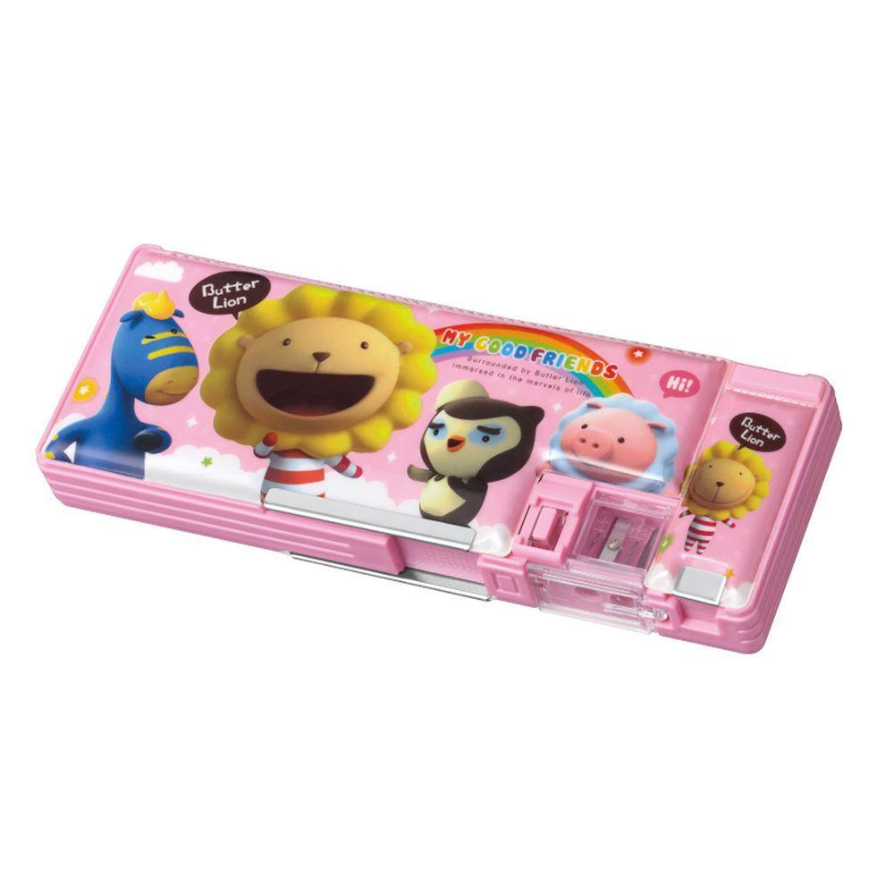 雄獅 SIMBALION - 奶油獅多功能筆盒-粉紅