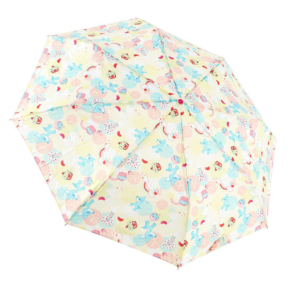Rainstory - 抗UV雙人自動傘-蘑菇小鹿-黃