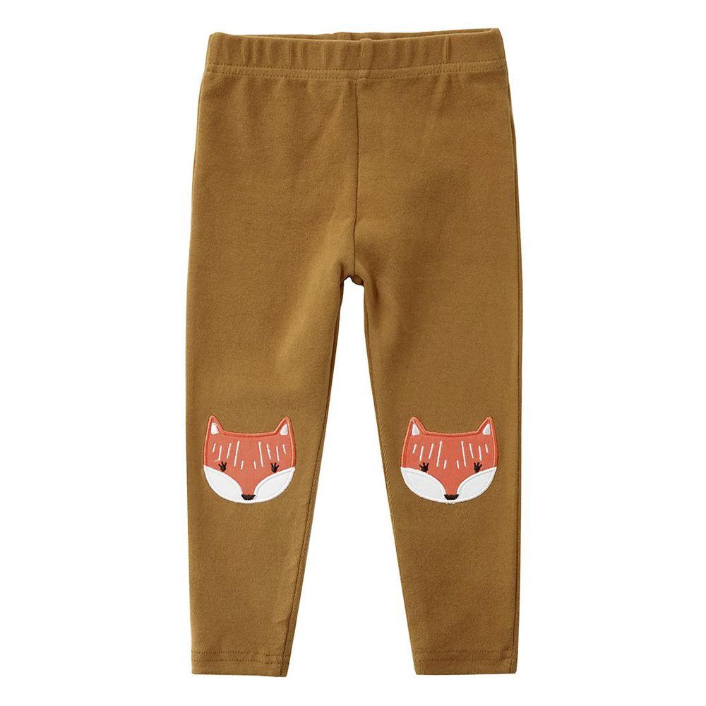 Minizone - 彈性內搭褲-棕色狐狸