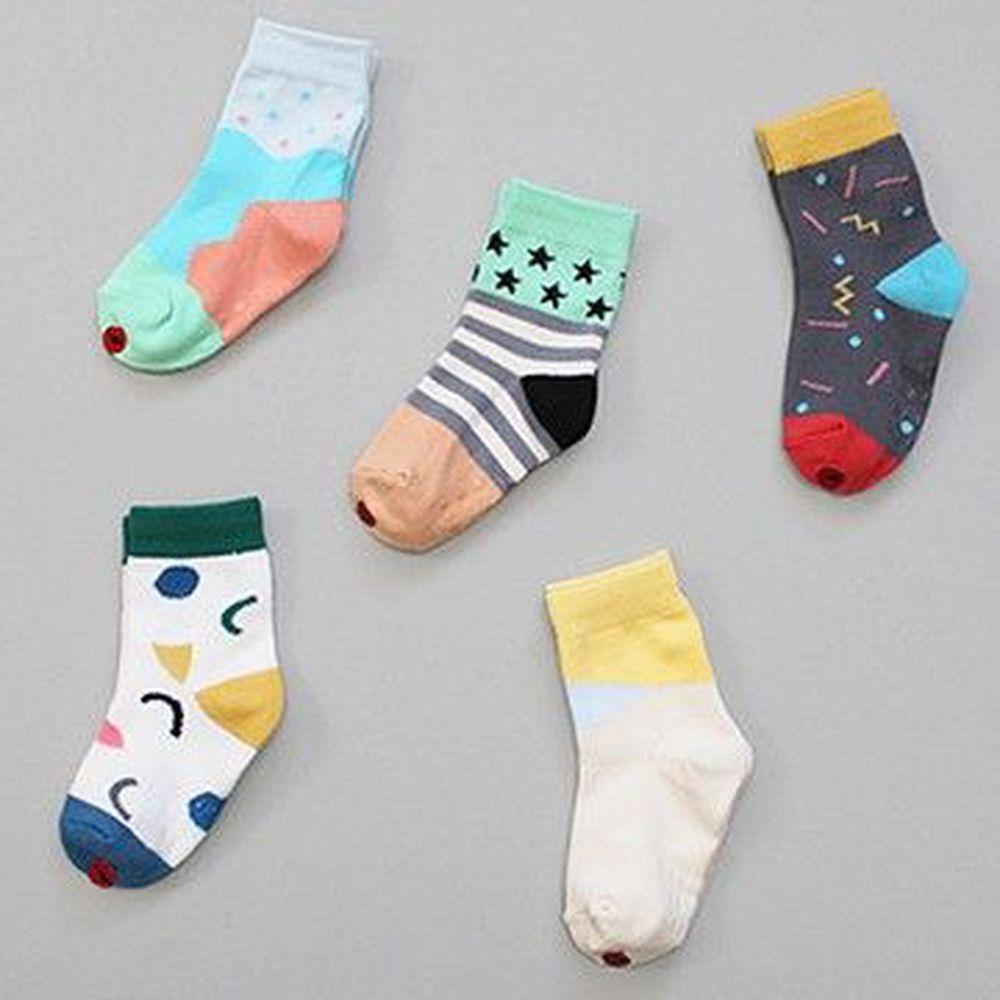 韓國 Kokacharm - 韓國製踝襪-五件組-Popping