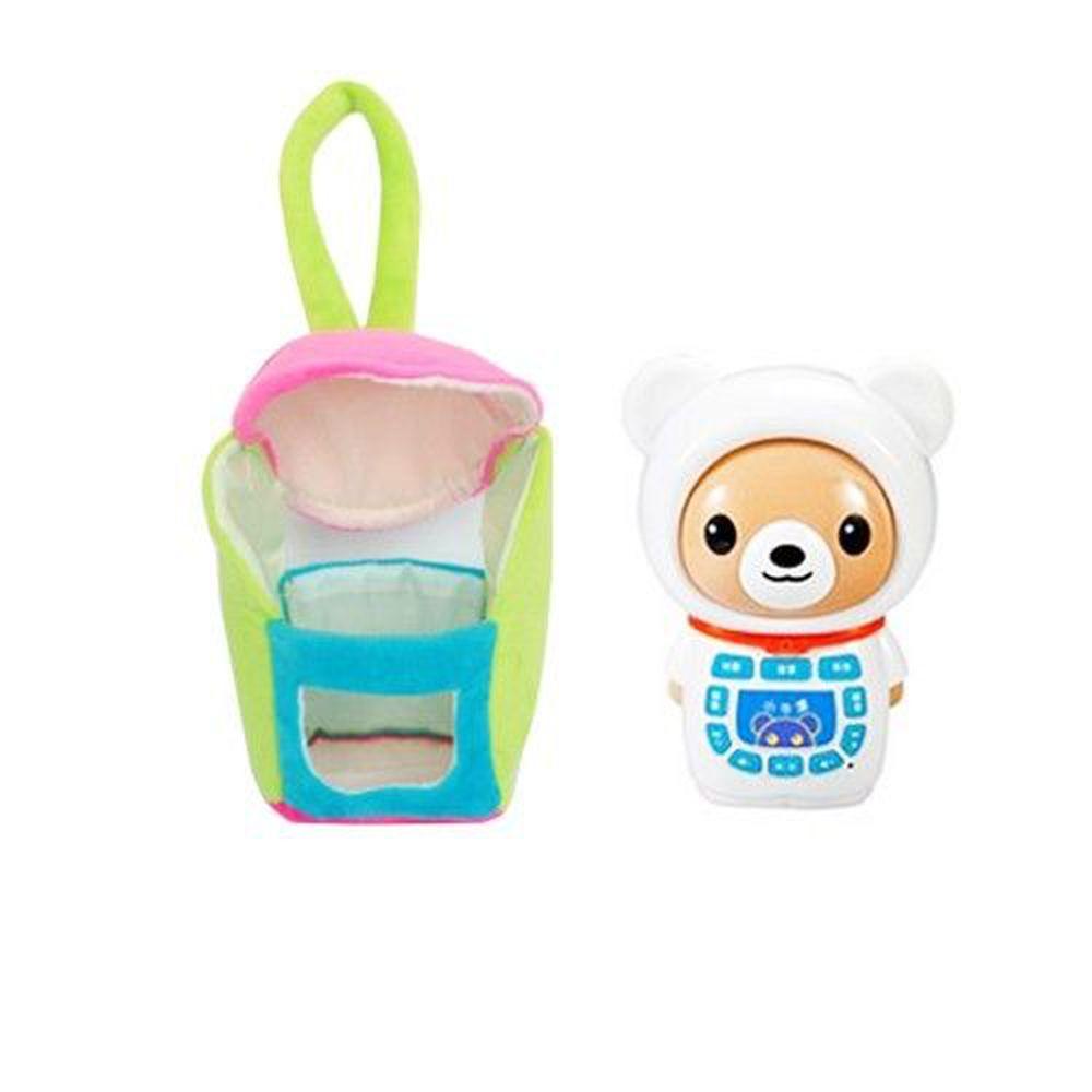 小牛津 - 小牛津帽T熊故事機+粉紅春裝暖暖衣超值組-白