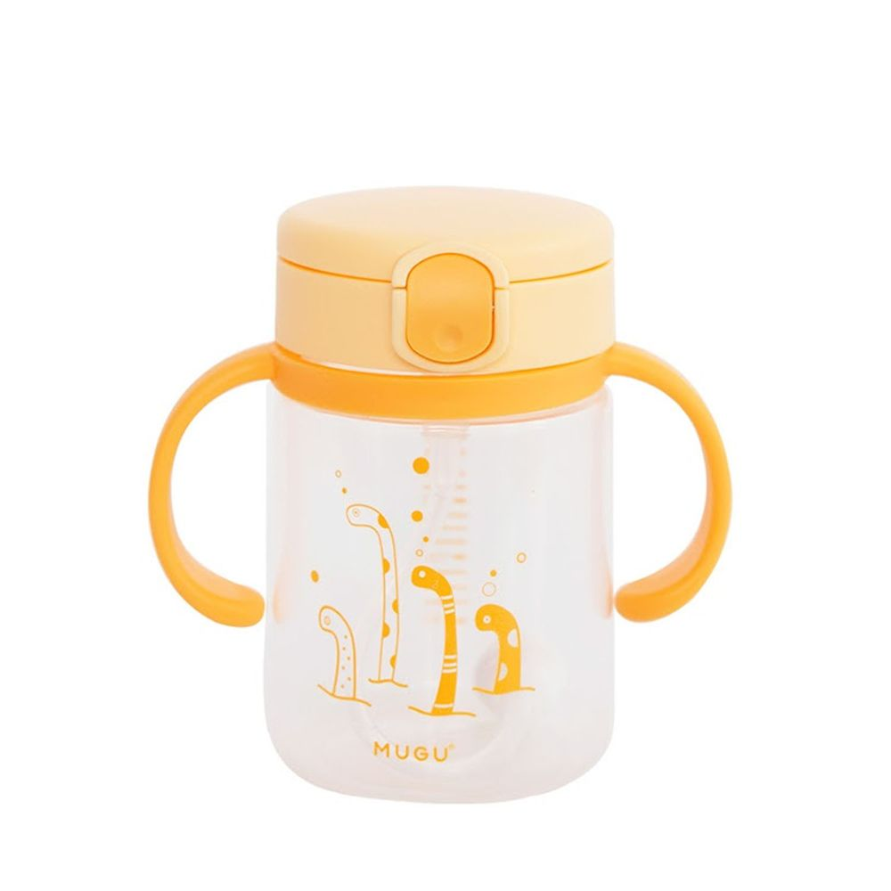MUGU - 寶寶手柄學習杯-黃色-220ml