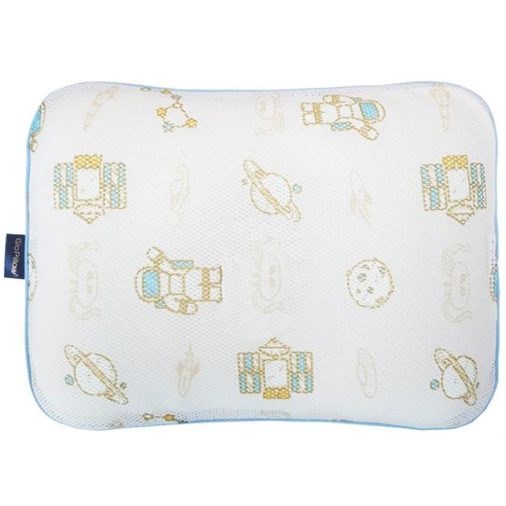 韓國 GIO Pillow - 超透氣防螨兒童枕頭-單枕套組-太空探險 (L號)-2歲以上適用