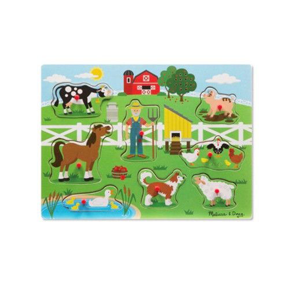 美國瑪莉莎 - MD 聲音拼圖-英文童謠-王老先生的農場