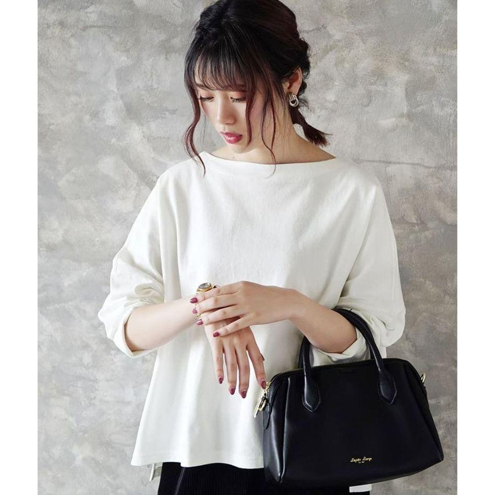 日本 zootie - [撥水/撥油加工] 抗油污耐洗純棉長袖上衣-白
