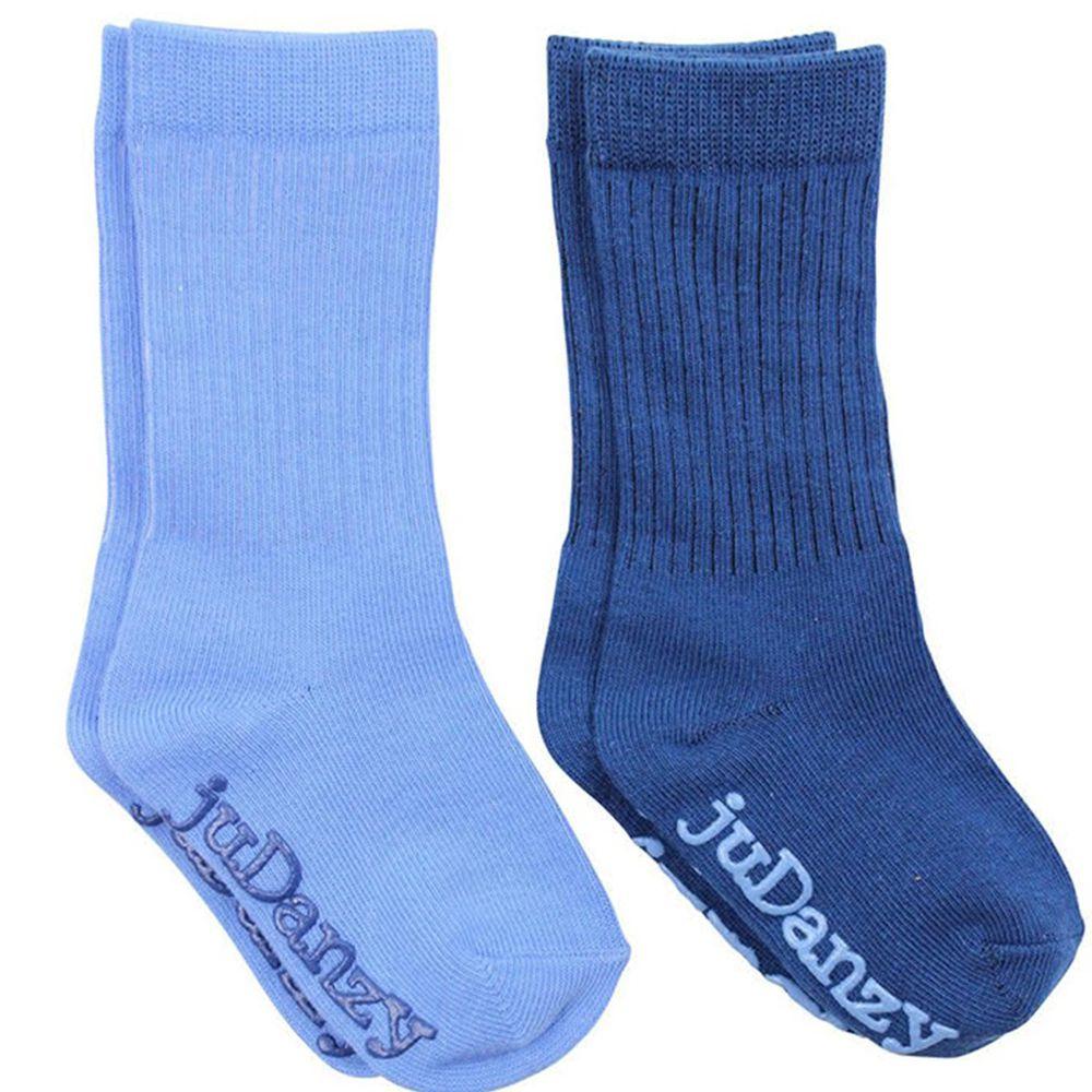 美國 juDanzy - 長襪兩入組-純藍