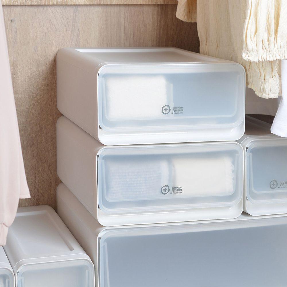 家窩 - 面寬25.5CM舒納層疊透窗可調式分隔抽屜箱-24格-3入