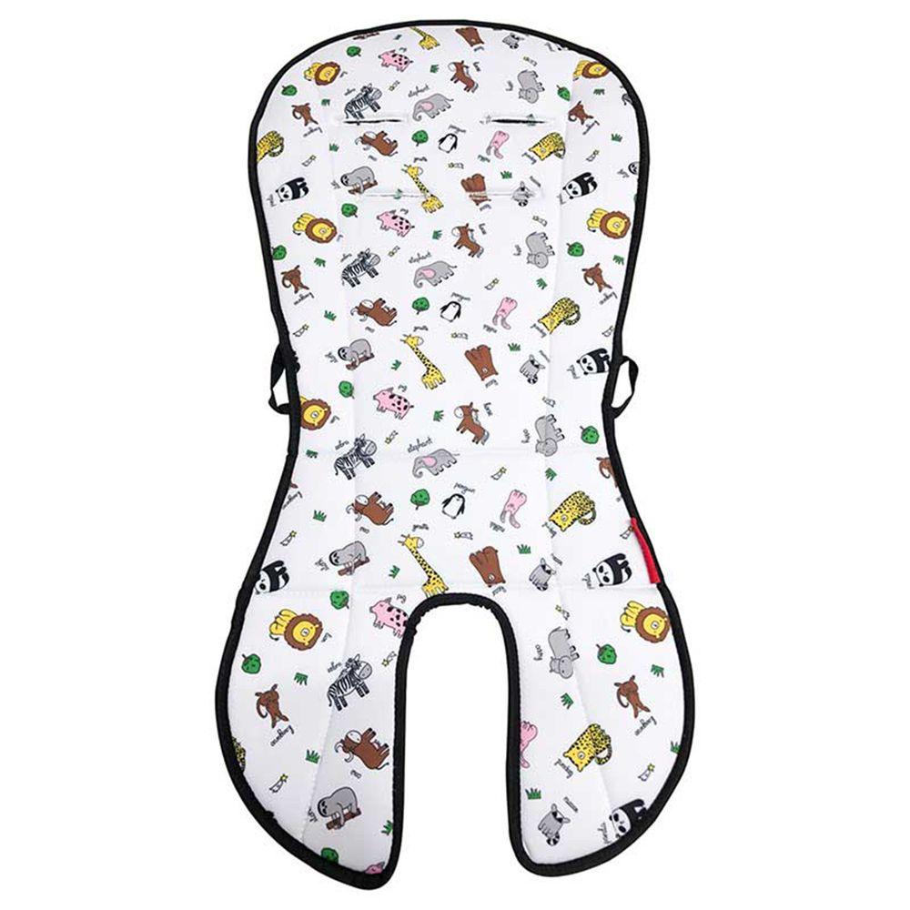 akachan honpo - angelette雙面嬰兒推車坐墊-米白色 (約36×74cmcm)
