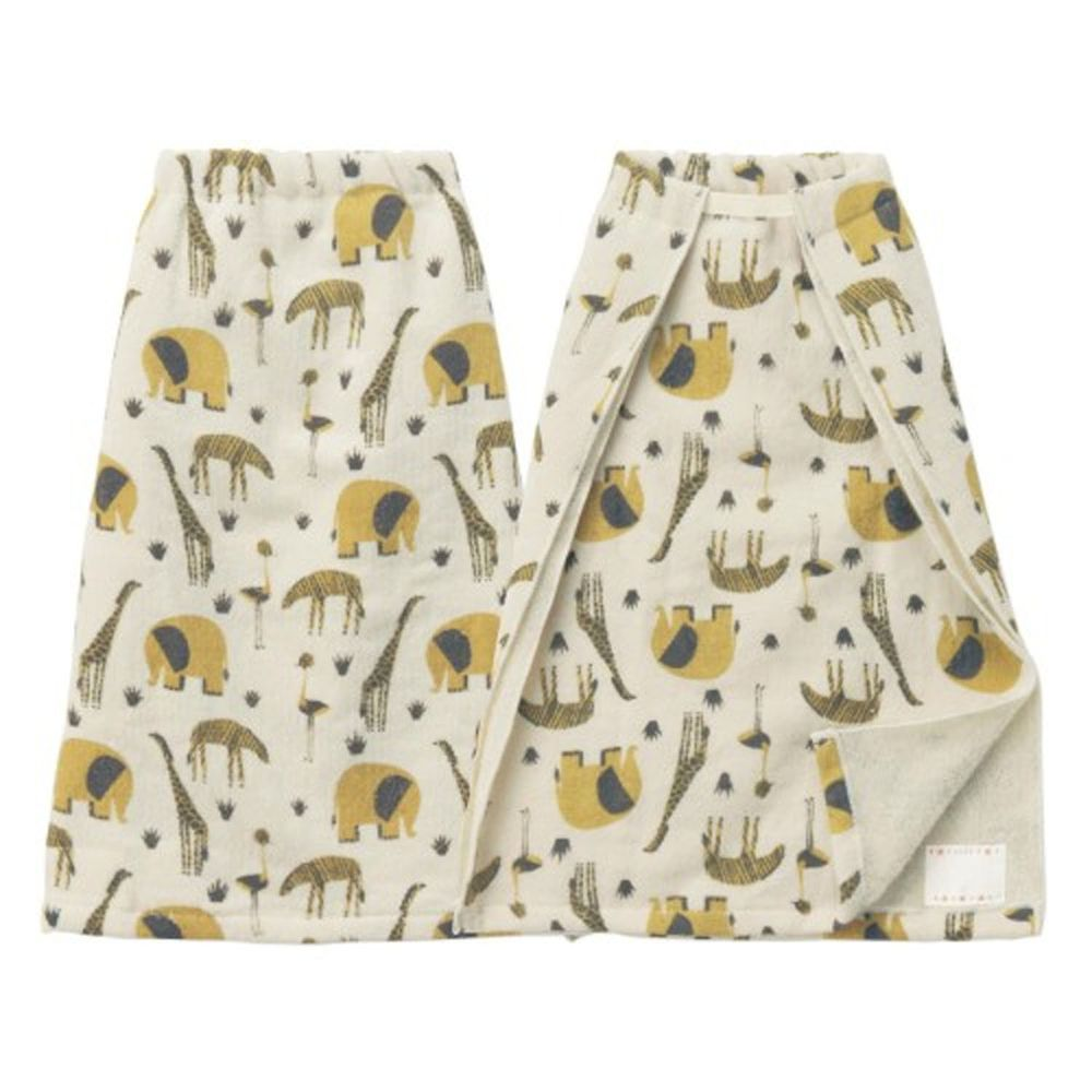 日本千趣會 - 毛巾圍兜2件組-動物園 (長(34x42.5cm(雙層)))