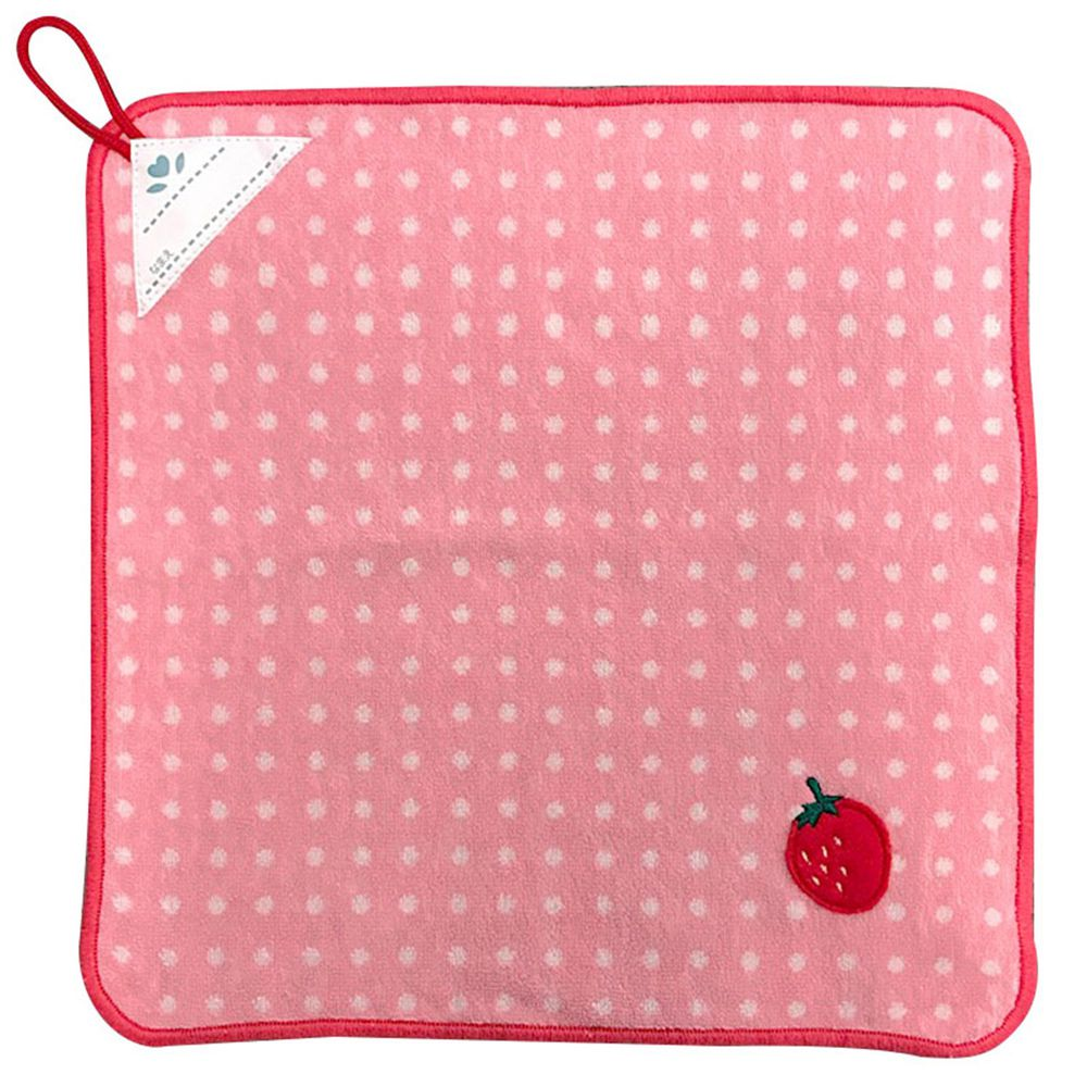 akachan honpo - 擦手巾-草莓-粉紅色-34×34cm
