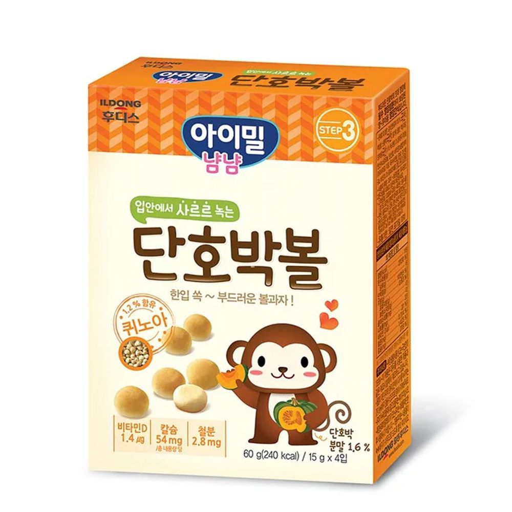 韓國Ildong Foodis日東 - 藜麥小饅頭-南瓜口味
