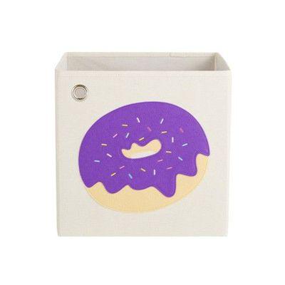玩具收納箱-葡萄繽紛甜甜圈 (33x33x33cm)