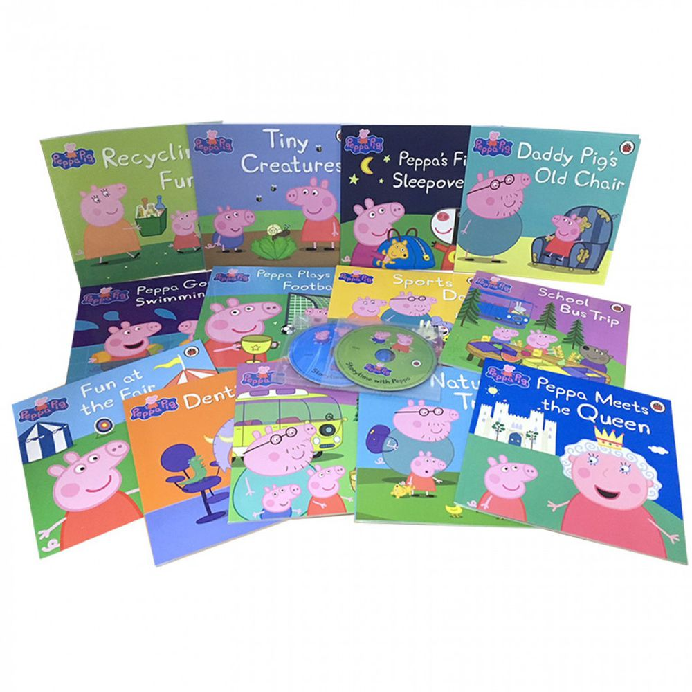 Peppa Paperback and Audio Collection (13平裝+2CD)