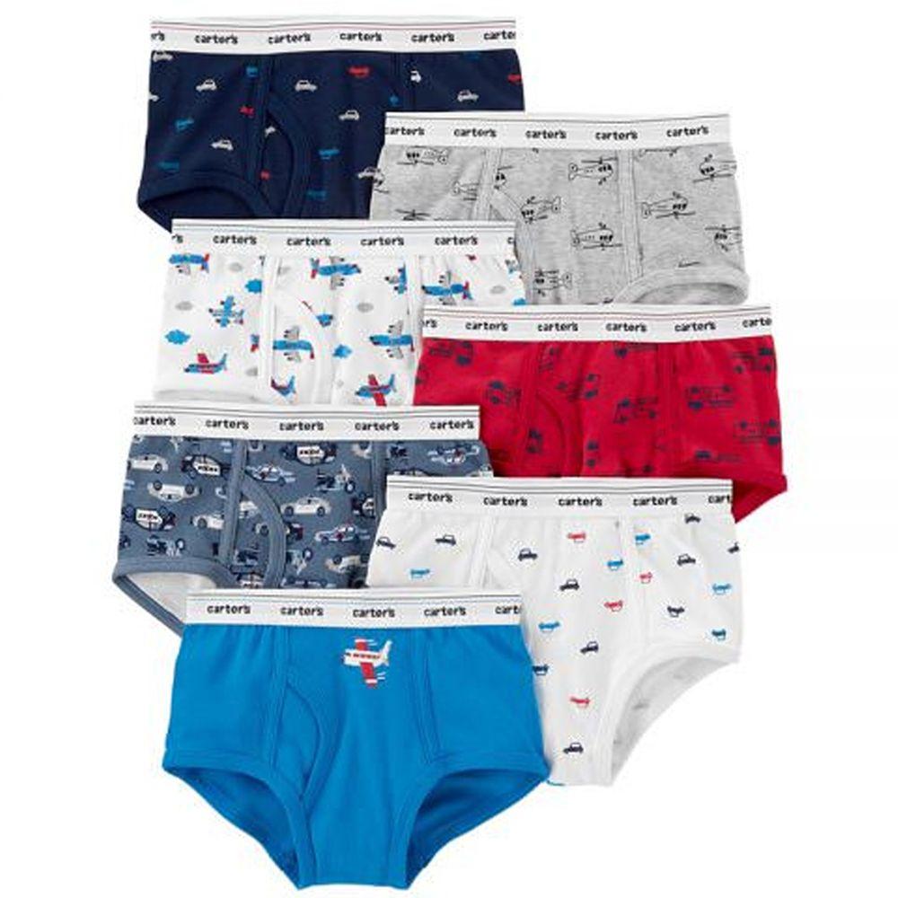 美國 Carter's - 幼童三角內褲七入組-交通工具