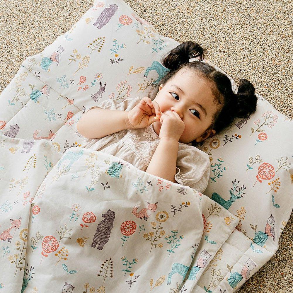 韓國 Formongde - 5cm厚雙面用睡袋/寢具(附收納袋)-花草動物