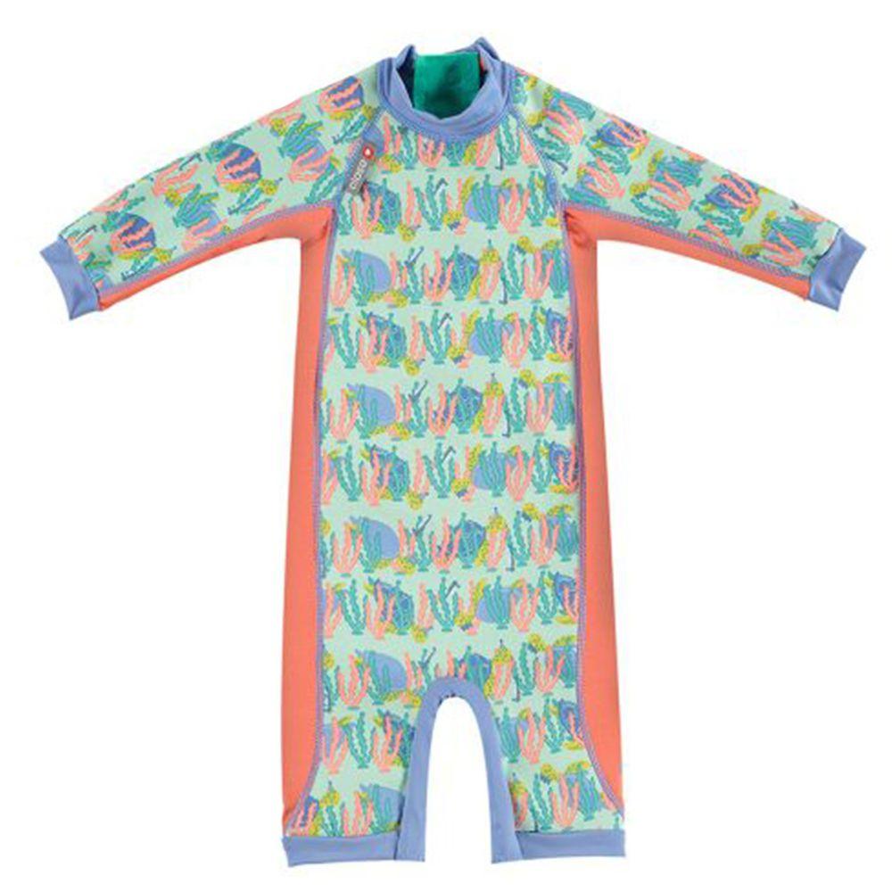 英國Pop-in - 嬰兒抗UV長袖泳裝-海龜