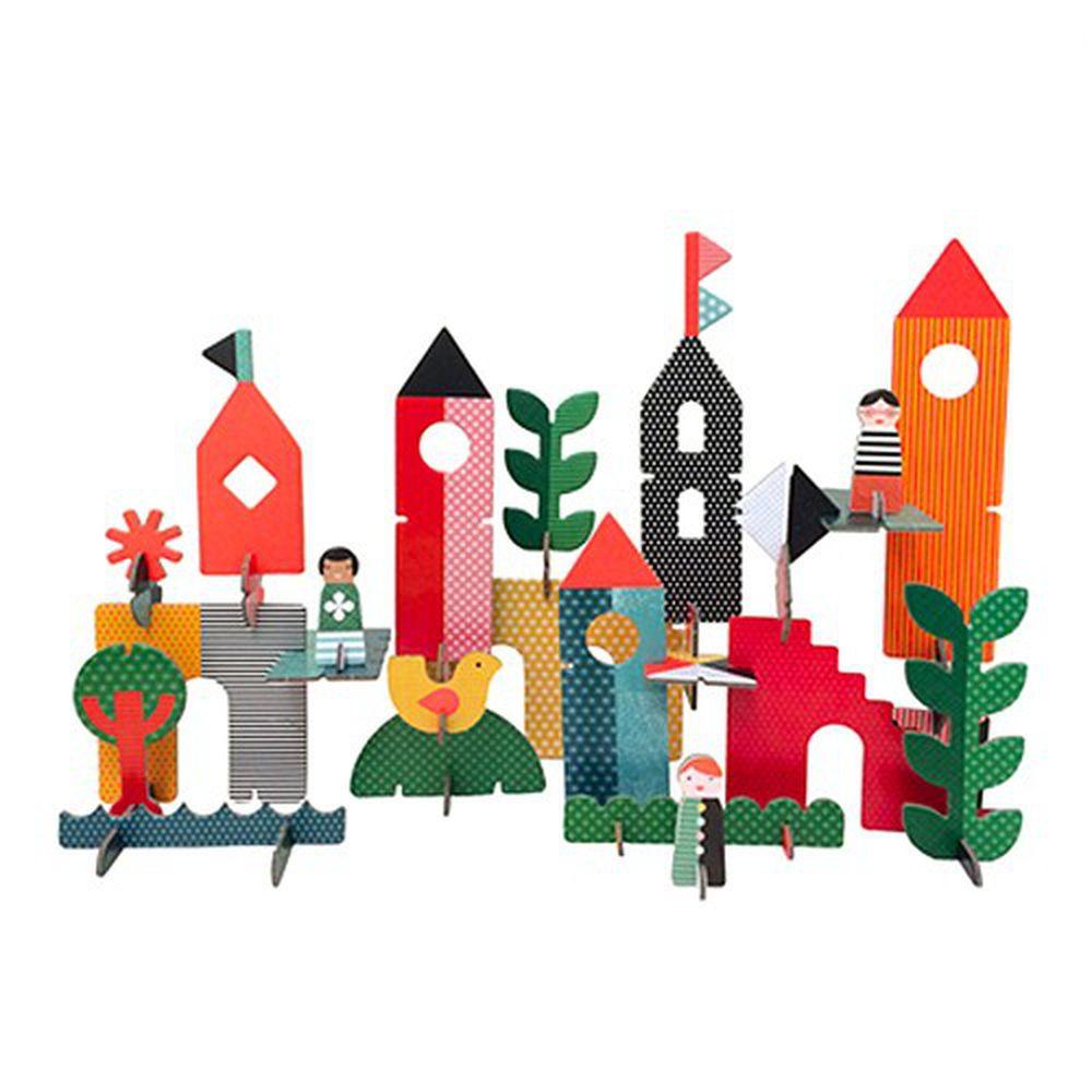 美國 Petit Collage - 立體組裝拼圖 (豪華版)-創意城市