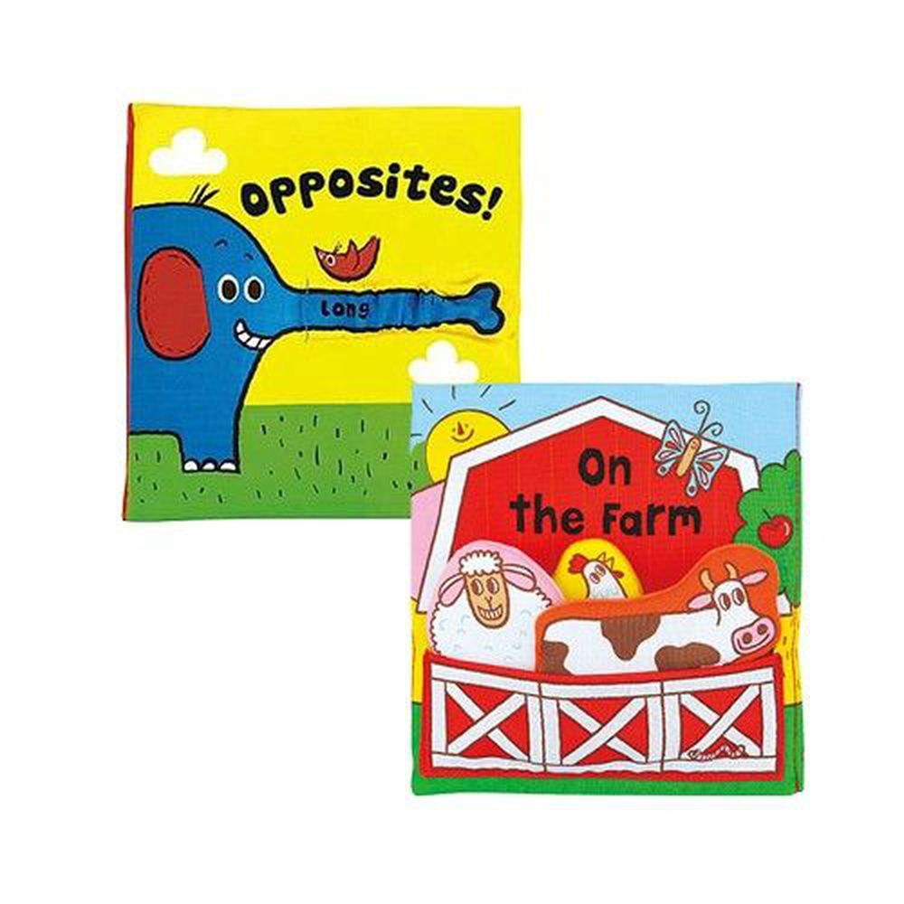 K's Kids - 布書兩入組-有趣的立體農場+有趣的相反詞