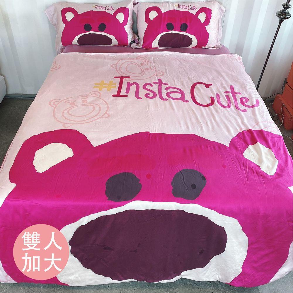 DISNEY 迪士尼 - 天絲大版圖床包四件組-熊抱 (雙人加大6尺)-床包*1-6x6.2尺(180x186cm)/兩用被套*1-6x7尺(180x210cm)/枕套*2(75x48cm)