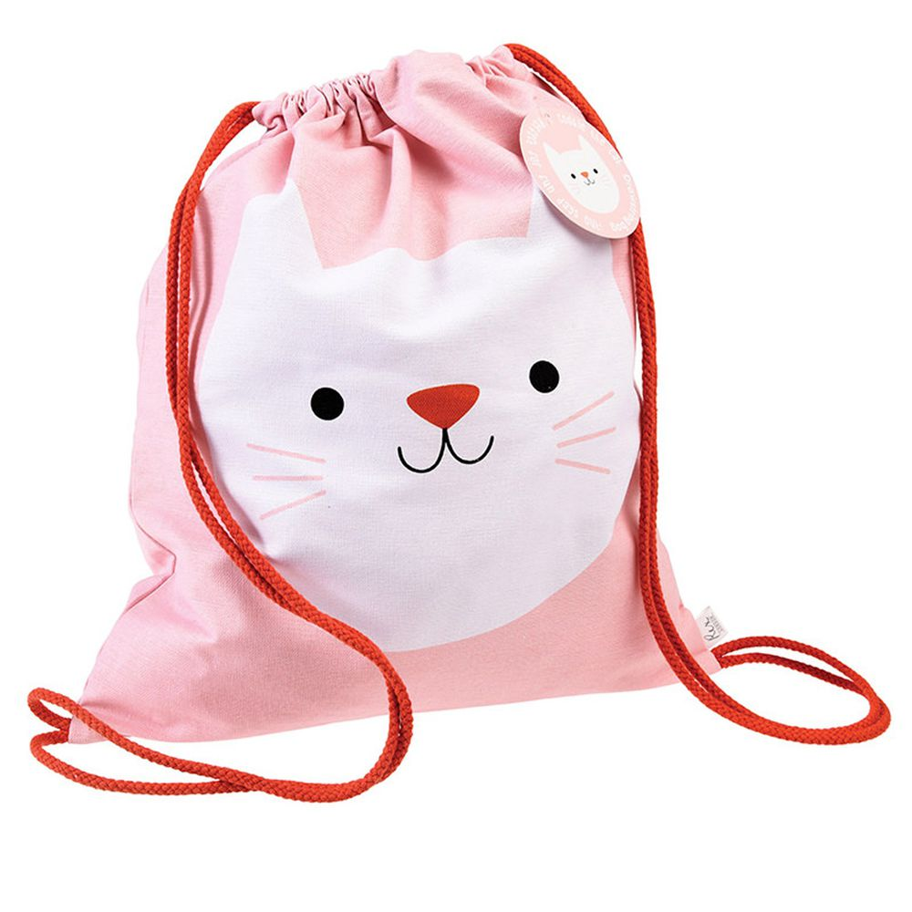英國 Rex London - 純棉後背包-迷人貓咪
