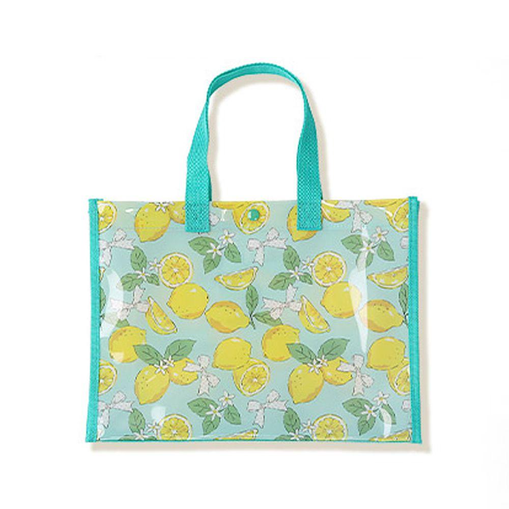 日本 ZOOLAND - 防水PVC手提袋/游泳包-A清新檸檬-薄荷 (25x34x11cm)