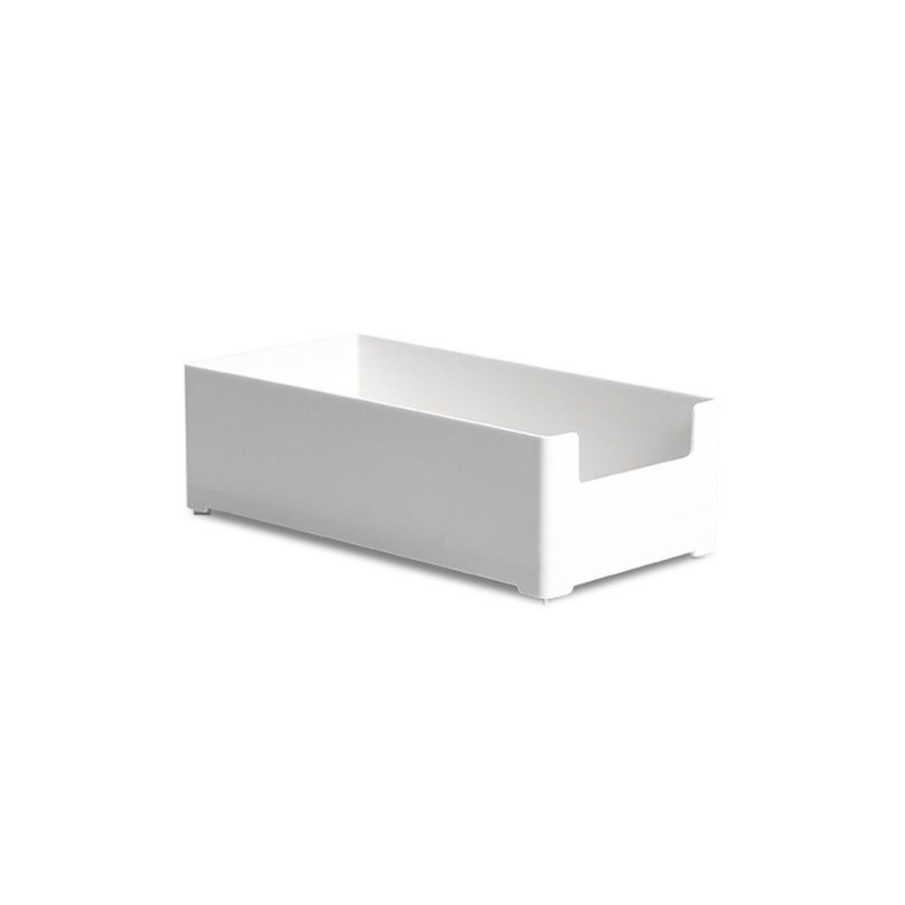 凹型可堆疊桌面抽屜整理收納盒-中號 (20x10x6cm)