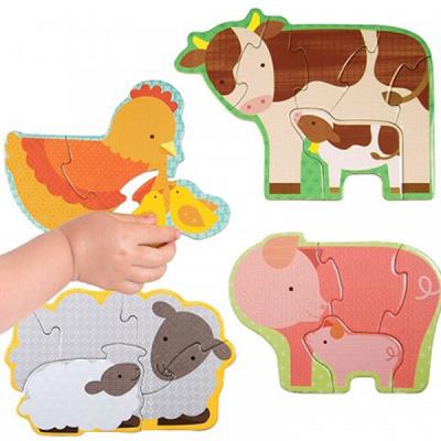 初階拼圖-農場動物-3、4、5及6片