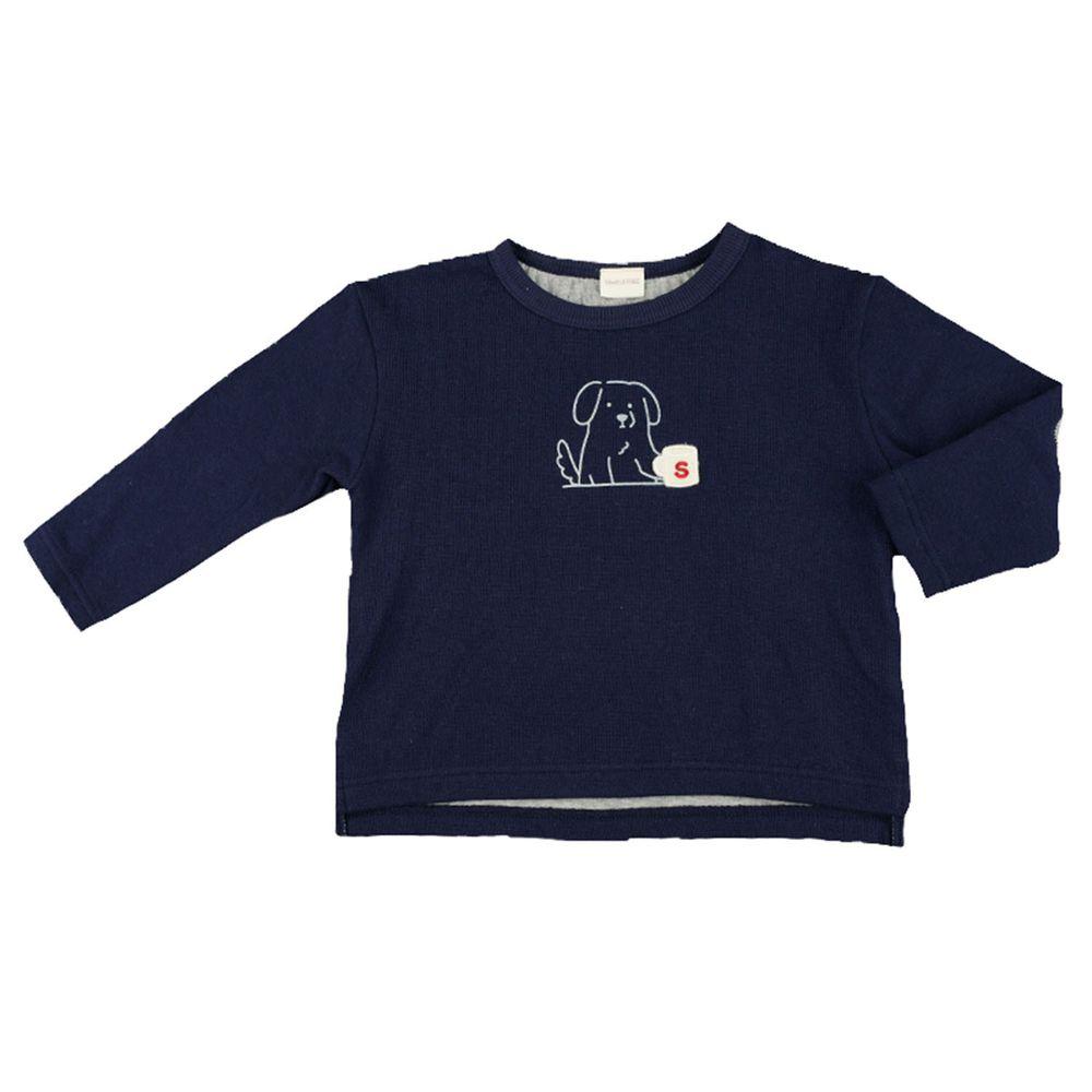 akachan honpo - 長袖T恤-深藍色