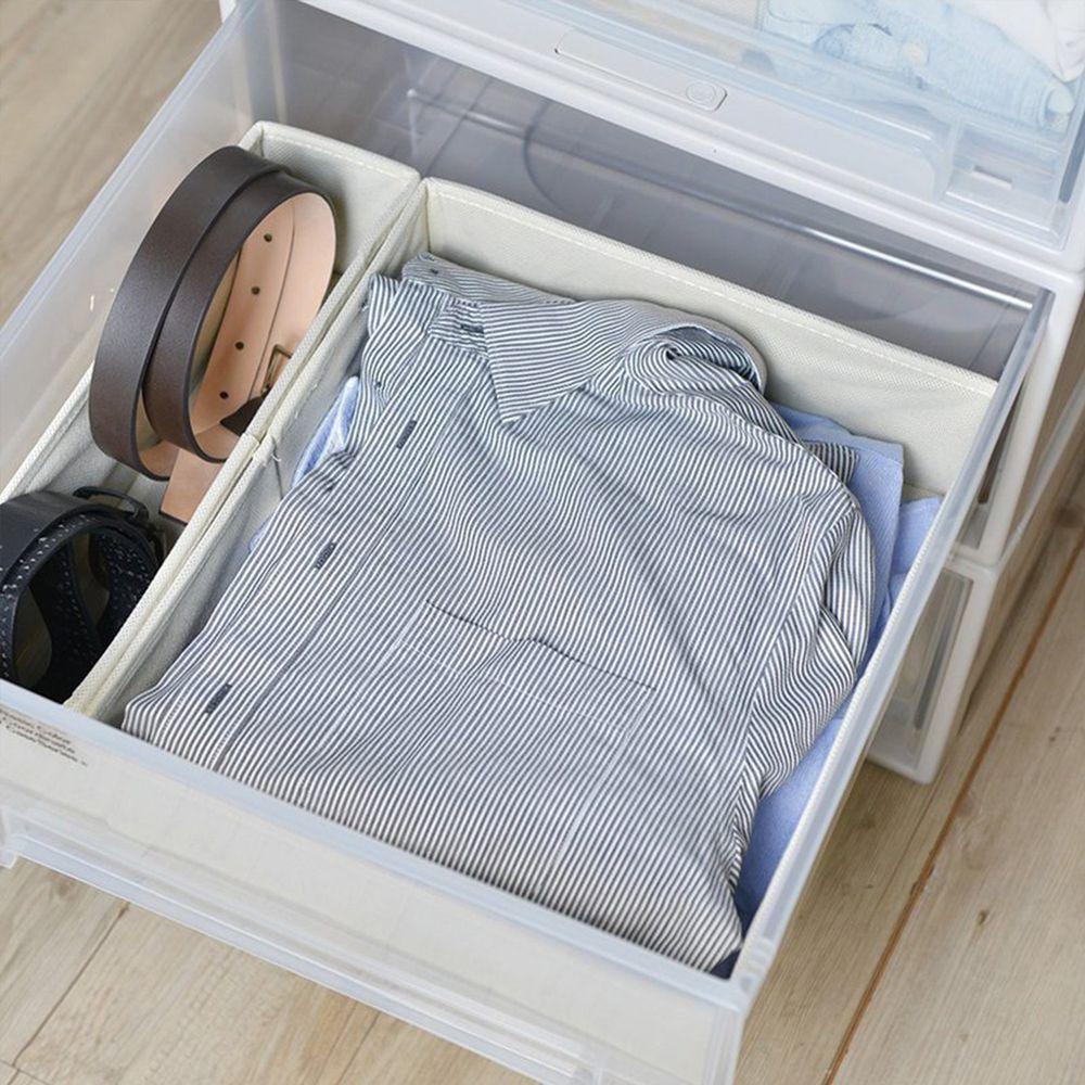 日本天馬 - 抽屜用單格分類收納布盒-面寬30cm-2入