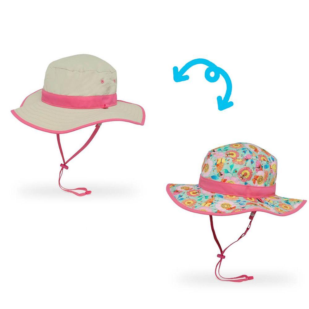 Sunday Afternoons - 兒童防曬帽-兒童抗UV雙面圓盤帽Kids Clear Creek Boonie-蜂蝶爭艷
