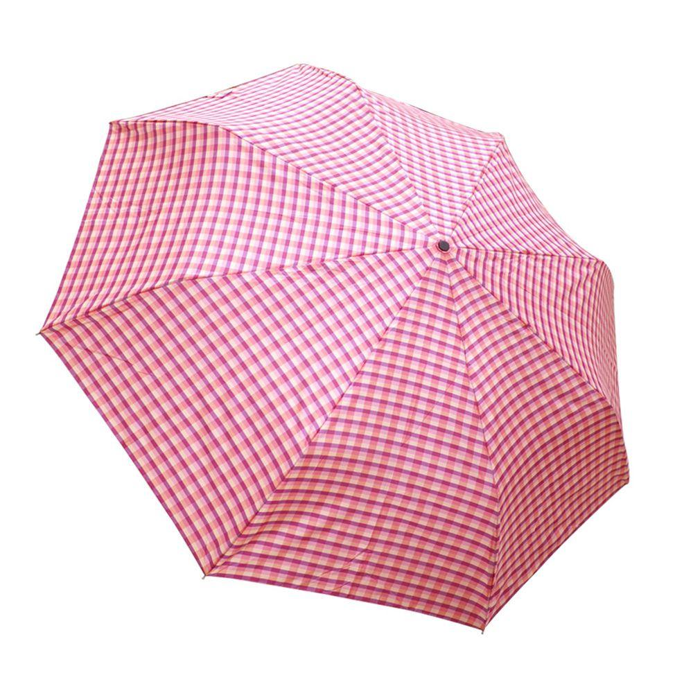 Rainstory - 抗UV雙人自動傘-紅粉格紋
