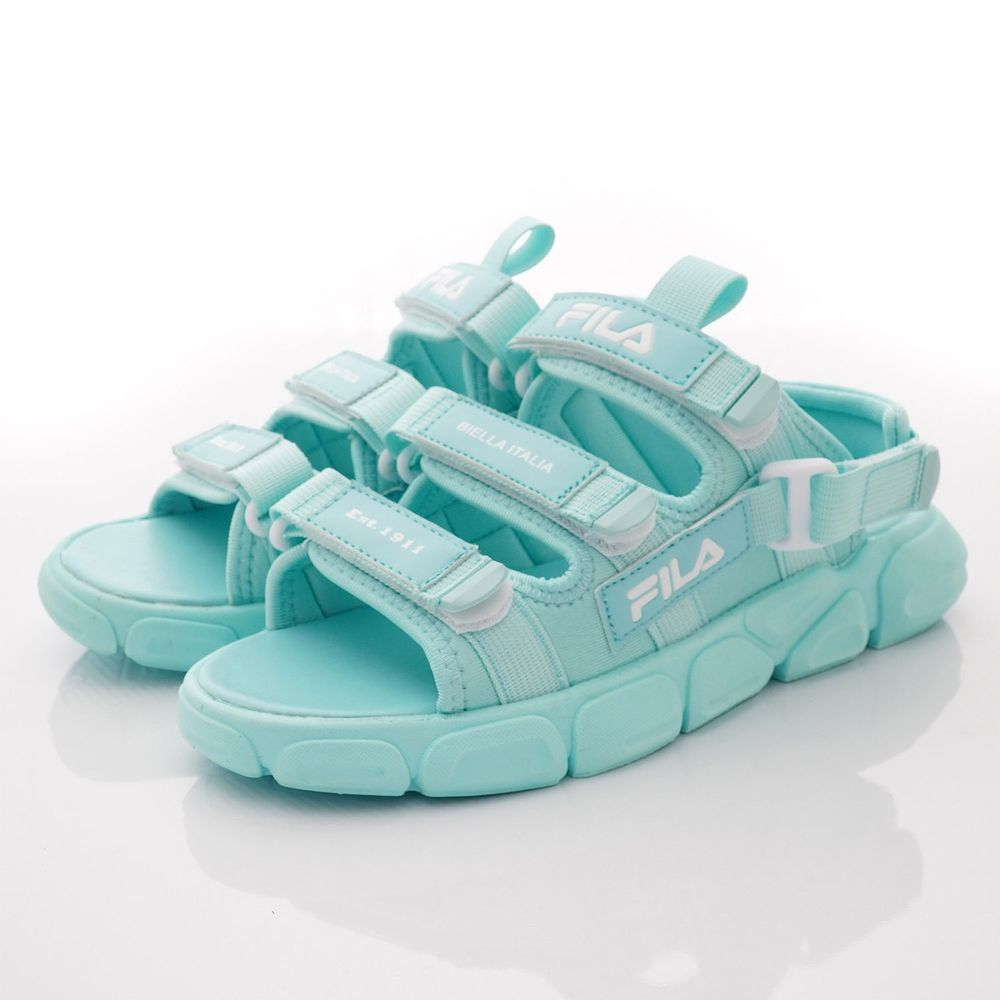 FILA - 輕量韓版運動涼鞋款(中小童段)-水藍