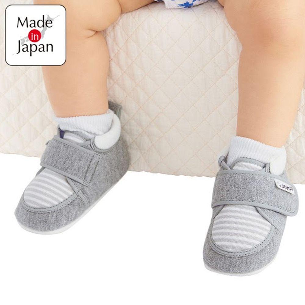 akachan honpo - 學步鞋-橫紋-灰色