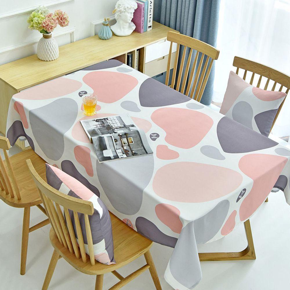 防水防油免洗桌布-彩色石頭-粉色