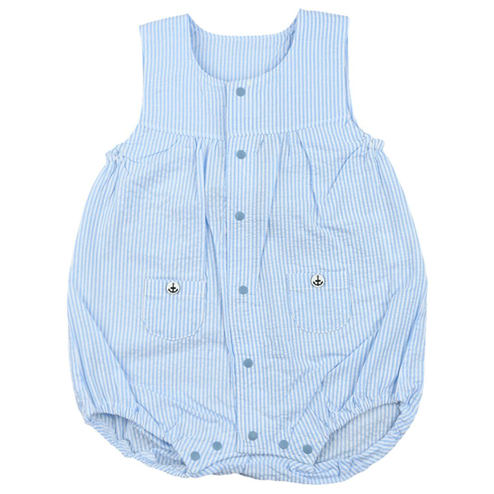 akachan honpo - 小口袋包屁衣-淺藍色