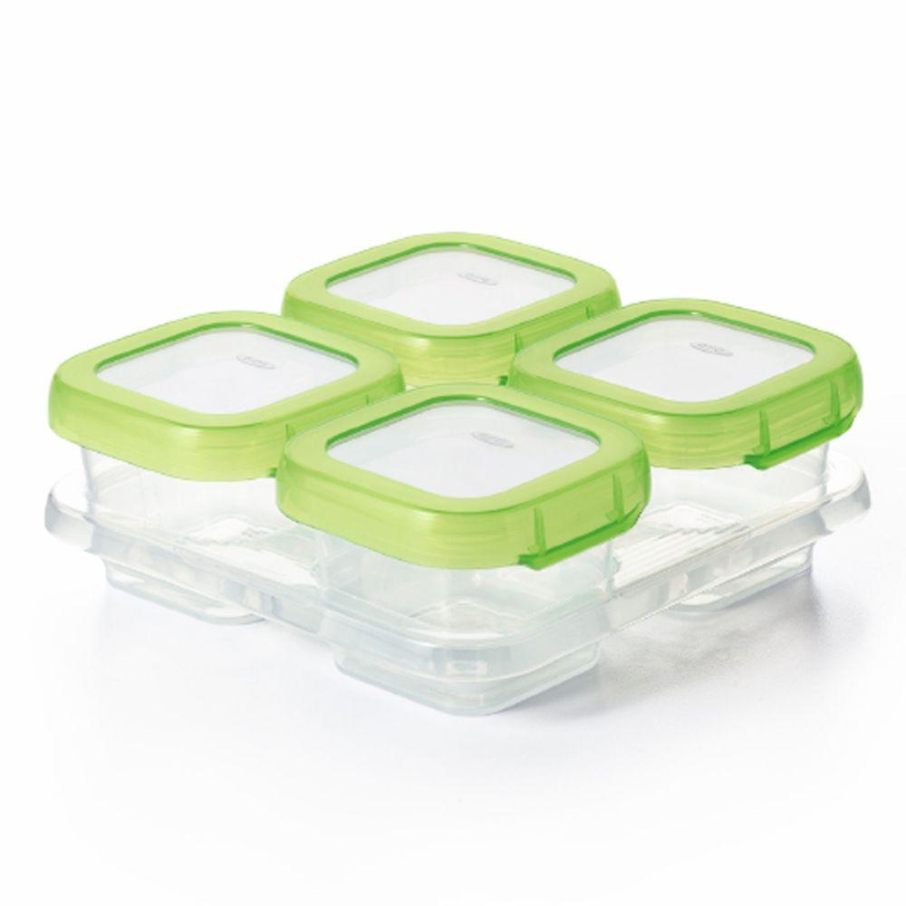 美國 OXO - 好滋味冷凍儲存盒(4oz)-青蘋綠