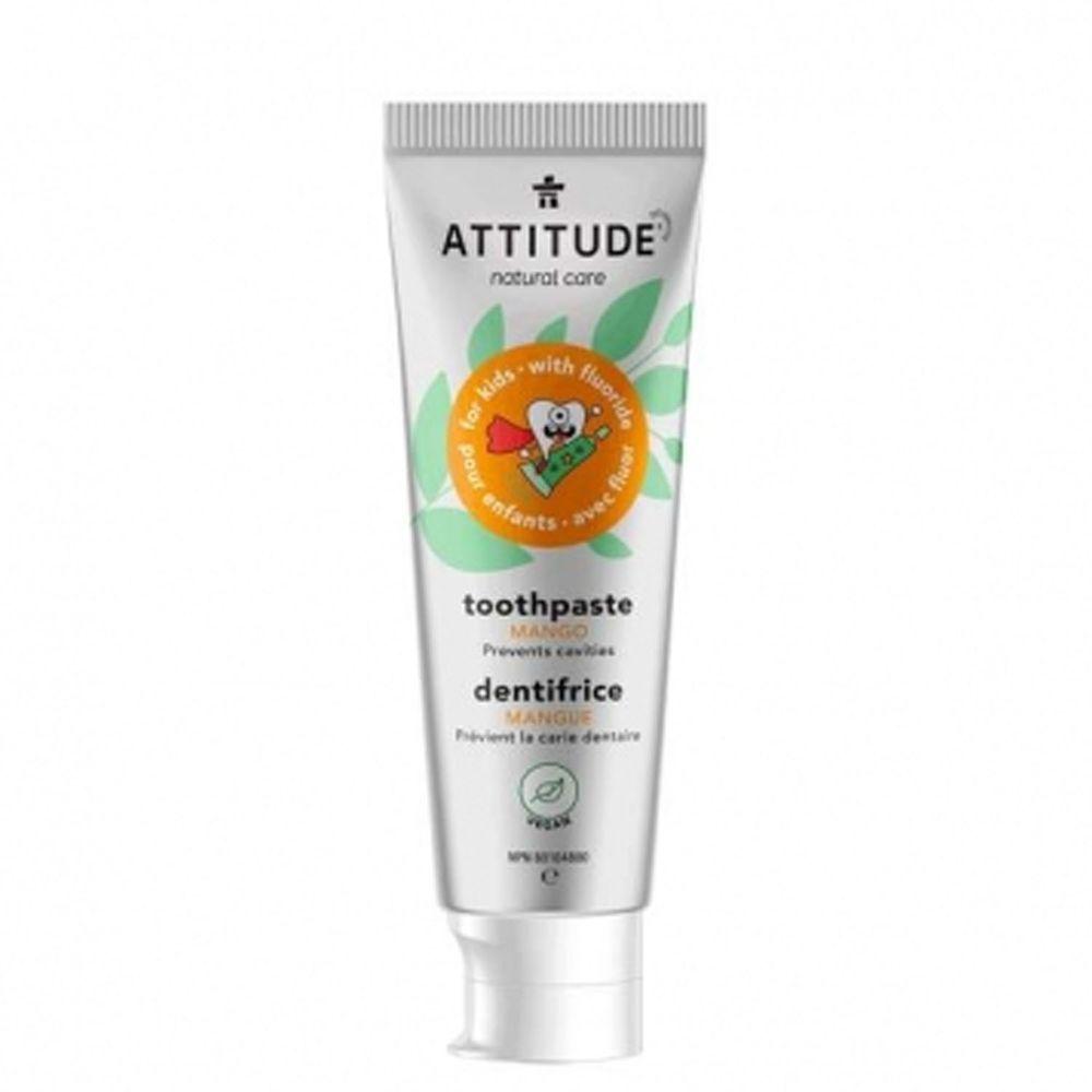加拿大 ATTITUDE 艾特優 - 兒童牙膏-芒果(含氟量1000ppm)-2歲以上適用-120g