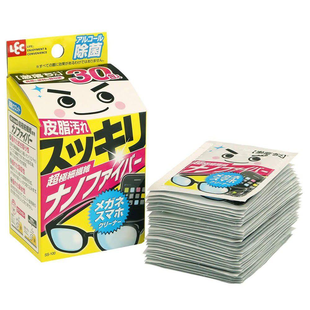 日本 LEC - 激落眼鏡手機清潔擦拭紙巾-30入/盒