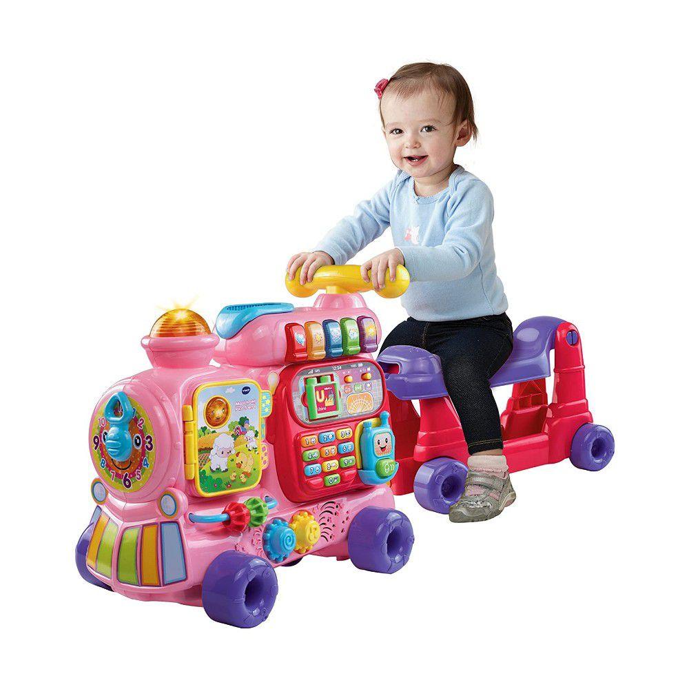 Vtech - 4合1智慧積木學習車-粉色