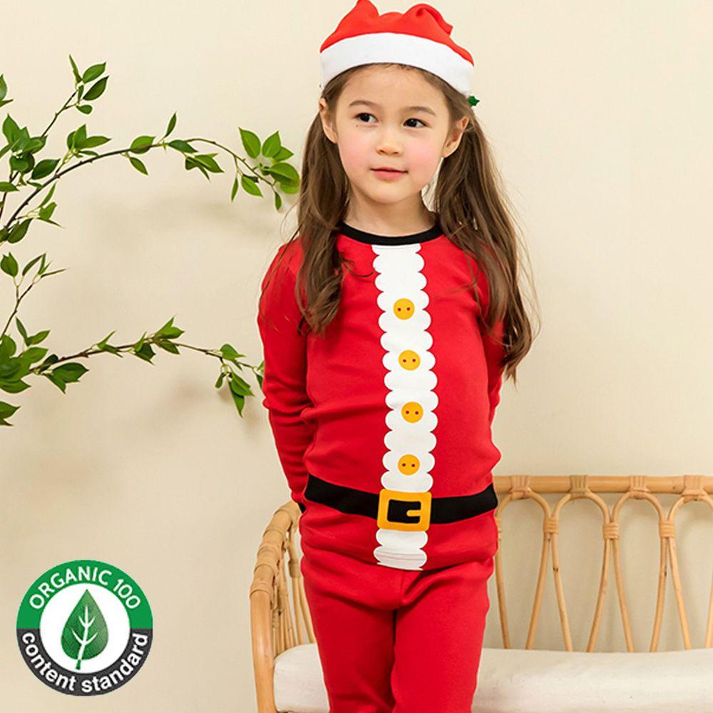 韓國 Maykids - 20支有機棉長袖家居服-歡樂聖誕裝