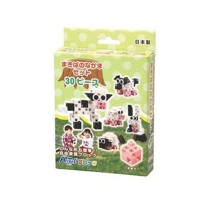 基礎入門系列--牧場朋友30PCS(五種變換造型)-乳牛、羊、牧羊犬、豬、兔子
